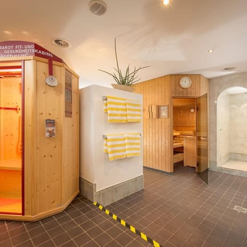 Sauna at Hotel Fischer, ski accommodation in St Johann, Austria