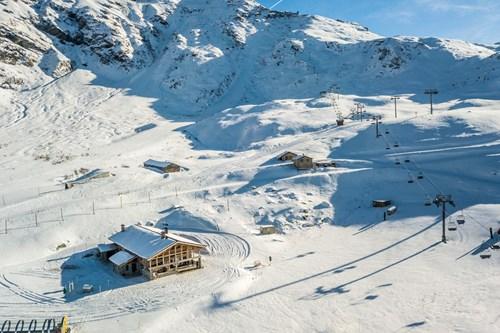 chalet des cascades drone view luxury ski chalet
