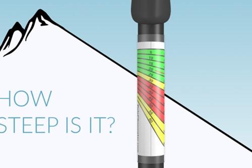 measure the Ski slope gradient