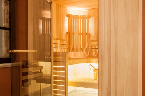 Sauna in the chalet des cascades, les arcs