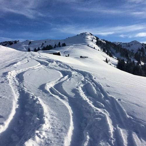 Where is the snow in Kitzbuhel