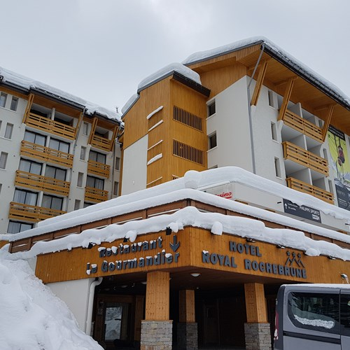 exterior, front of Hotel Royal Rochebrune Megeve