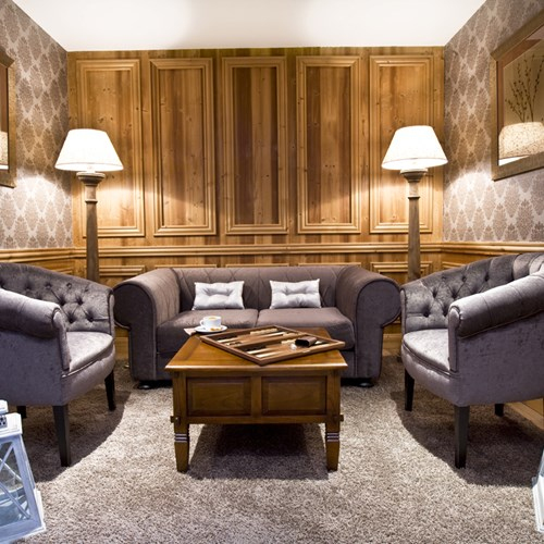 lounge area of hotel royal rochebrune Megeve