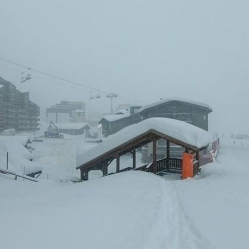 Where is the snow in val thorens