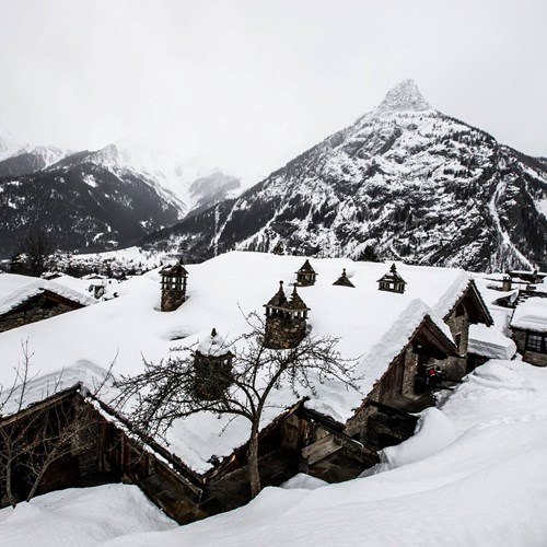 Where is the snow in Courmayeur