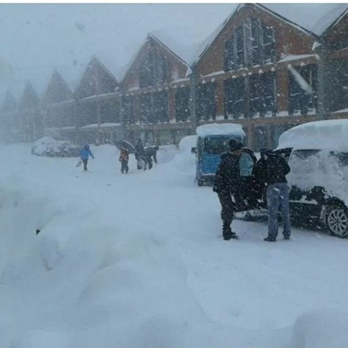 Facebook post by Sestriere 8th Jan 10.38am