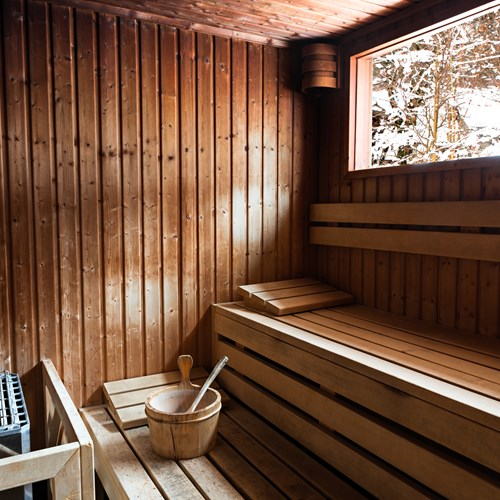 sauna at Refuge des Aiglons in Chamonix