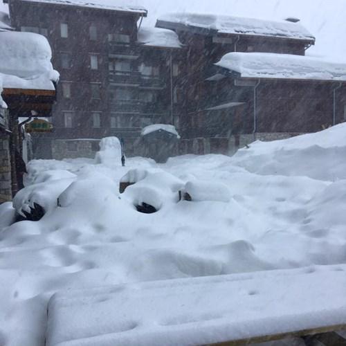 Where is the snow in Meribel