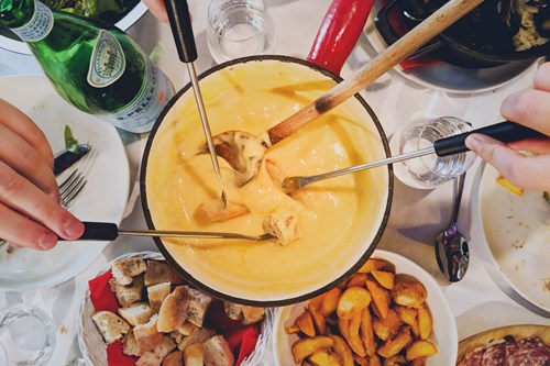 Chamonix Photoshoot fondue