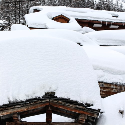 so much snow in Val d'Isere