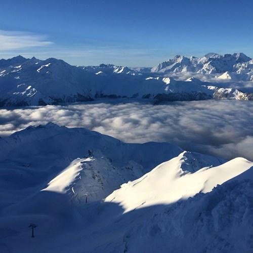 Snowy mountain in Verbier