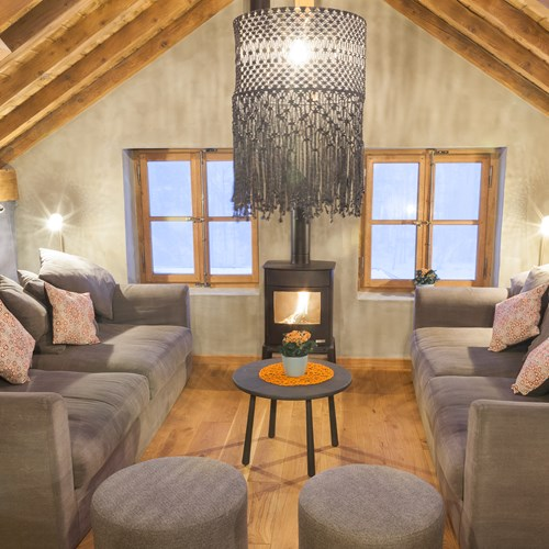 the loft chalet, chamonix seating area