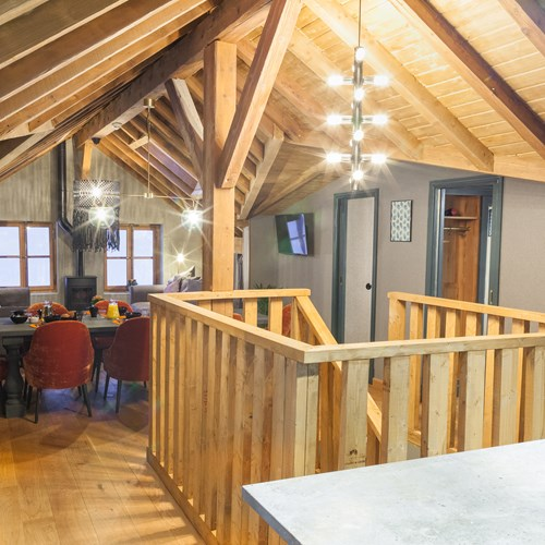 chalet the loft chamonix stairs to dining area