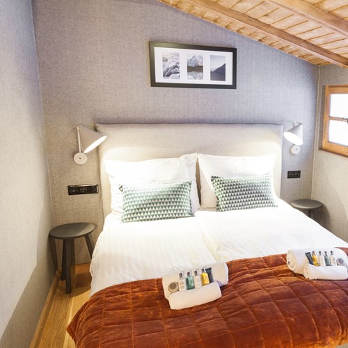 the loft chalet in chamonix double room