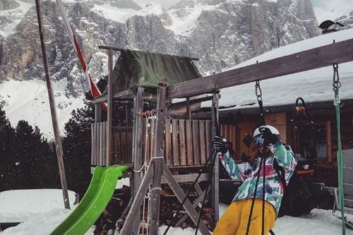 Mountain swings in Selva Val Gardena