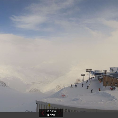 snow in tignes, current conditions