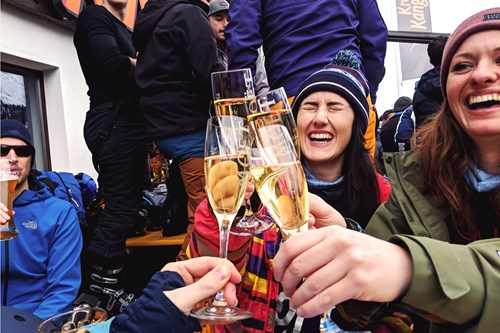 St Anton - March 2018 - moet cheers.jpg