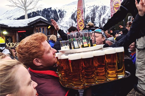 Some serious apres ski beers at the mooserwirt, st anton in Austria