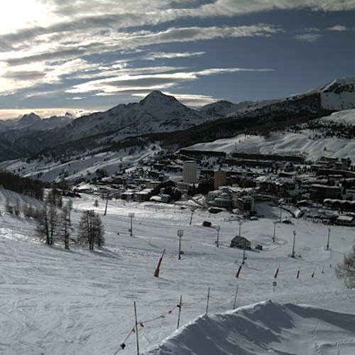 snow in sestriere, europe