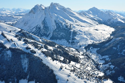 La Clusaz ski weekends France view of town and valley