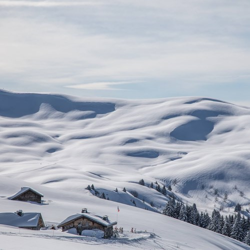 snow in megeve