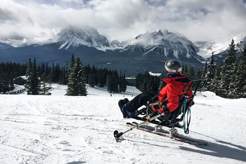 Sit Ski Banff, Alberta - Lake Louise