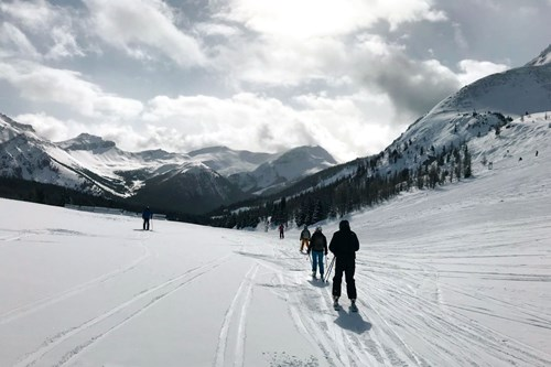 skiiing in sunshine village, Banff, Alberta