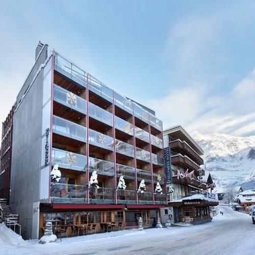 Hotel Eiger-Grindelwald ski hotel snowy exterior