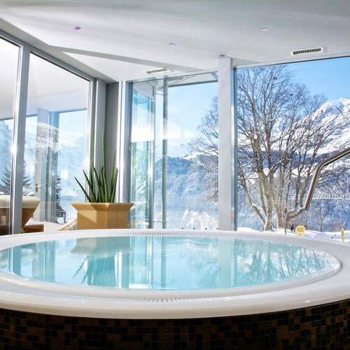 hot tub at Hotel Silberhorn Wengen, Switzerland
