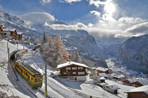 Affordable skiiing in Wengen, Switzerland