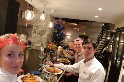 Dec 2017 - Les Arcs - Sam - Cascades team Christmas dinner.jpg