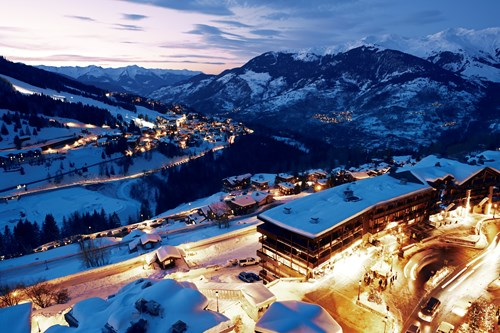Courchevel by night