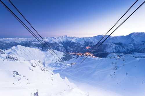 ski weekends short ski breaks courchevel lift view