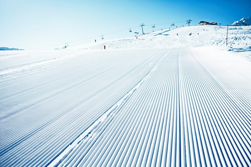 the best pistes in courchevel-freshly groomed piste