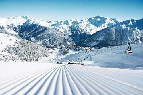 skiing in Courchevel from Dublin