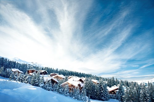 Courchevel ski resort, France-snowy chalets in and our favourite skiing
