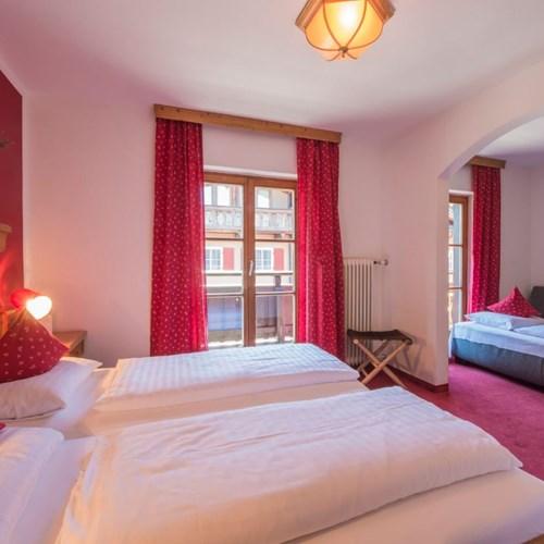 Hotel Gamshof-kitzbuhel ski accommodation-family room with sofa bed
