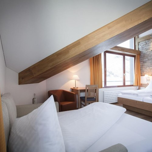 Trubsee Alpine Lodge-Engelberg ski resort-double room with sofa bed