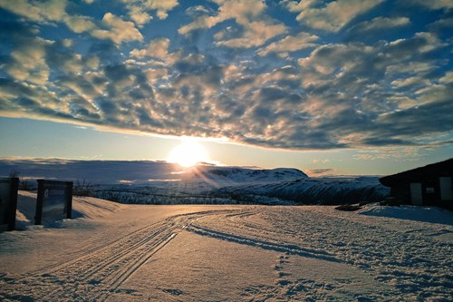 Mountain sunset in Geilo, Norway