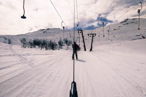 Ski in Norway, Hemsedal drag lift