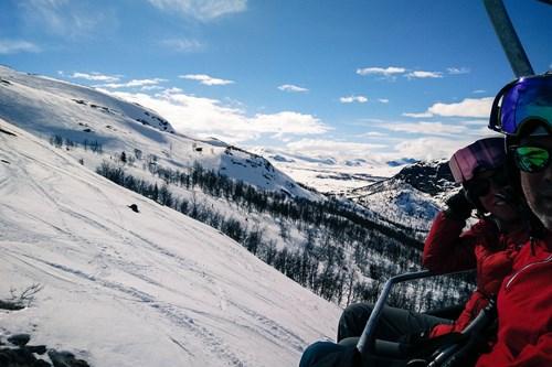chairlift in Hemsedal, ski in Norway