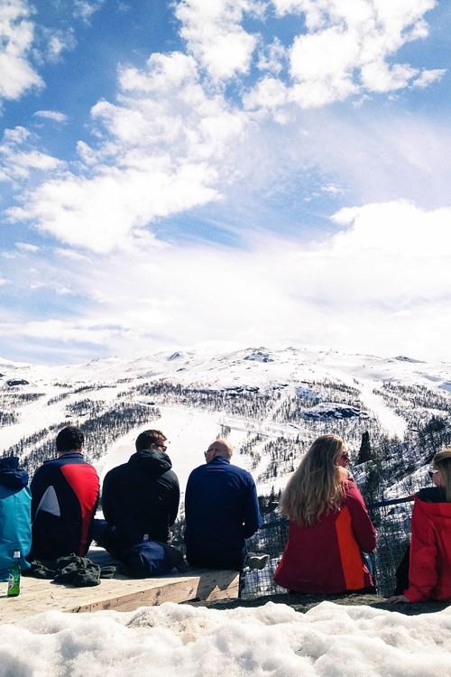 picnic in Hemsedal ski resort-ski in Norway