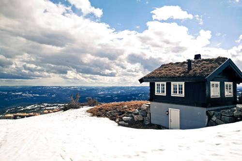Mountain cabin, Norefjell, Norway skiing