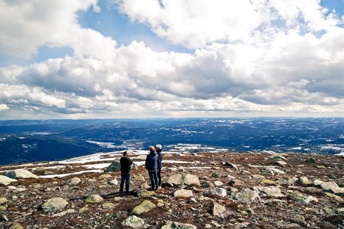 summit of Norefjell, skiing in Norway